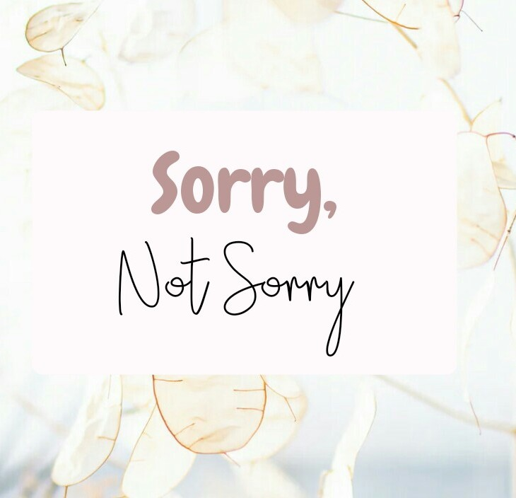 sorry not sorry: why you should never apologize